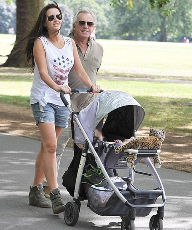 Peter Stringfellow with his wife Bella Wright